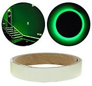 abordables -fluorescence verte autocollant nuit bande de ruban lumineux décoration autocollant pour porte d'escalier voiture moto bande lumineuse de
