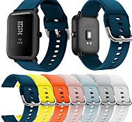 economico -Cinturino intelligente per Xiaomi 1 pcs Cinturino sportivo Silicone Sostituzione Custodia con cinturino a strappo per Orologio Huami Amazfit Bip Younth 20 millimetri