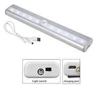 economico -luce notturna a led quadrata led sotto luce armadio ricaricabile / facile da trasportare / sensore corpo umano aaa 1pc