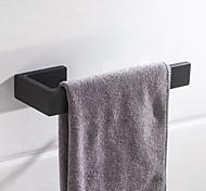 economico -portasciugamani nuovo design metallo acciaio inossidabile bagno asta singola nero opaco montaggio a parete 1pz