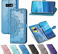 economico -telefono Custodia Per Samsung Galaxy Integrale Custodia in pelle Porta carte di credito S21 S21 Plus S21 Ultra S9 S9 Plus S8 Plus S8 Bordo S7 S7 S10 A portafoglio Porta-carte di credito Con chiusura