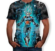 abordables -Inspiré par Dragon Ball Cosplay Manches Ajustées Térylène 3D Tee-shirt Pour Homme