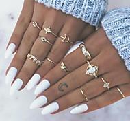 economico -Anello Oro Lega 13 pz / Per donna / Set di anelli