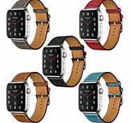 economico -Cinturino intelligente per Apple  iWatch 1 pcs Chiusura classica Vera pelle Sostituzione Custodia con cinturino a strappo per Apple Watch Serie SE / 6/5/4/3/2/1 38 millimetri 40 mm 42 millimetri 44mm