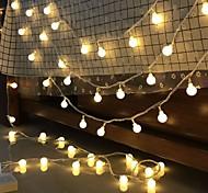 abordables -10 m LED boule chaîne lumière boule chaîne fée guirlande lumières ampoule lumière étanche pour extérieur mariage noël décor à la maison