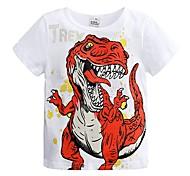 economico -Bambino Da ragazzo maglietta T-shirt Manica corta Dinosauro Con stampe Animali Bianco Blu Grigio Cotone Bambini Top Estate Essenziale Fantastico