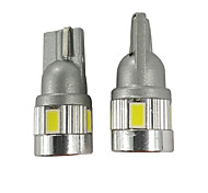 abordables -2pcs top position focus éclairage w5w led ampoule 450lm voiture t10 plaque d'immatriculation de couleur blanche