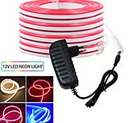 abordables -KWB 3M bandes lumineuses LED Ruban LED Flexibles 360 LED SMD3528 12mm 1 set Blanc Chaud Blanc Rouge Imperméable Créatif Découpable 12 V  IP68