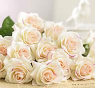 abordables -fleur artificielle bouquet de mariage en plastique bouquet de fleurs de table 1 branche 43cm