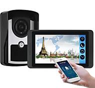economico -618fc11 7 pollici touch screen capacitivo videocamera cablata video campanello wifi / 3g / 4g chiamata a distanza di sblocco di stoccaggio citofono visivo one to one
