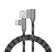 economico -USB C Cavi Placcato in oro Carica rapida Trasmissione dati 1.0m (3 piedi) Alluminio Acciaio inossidabile Per Xiaomi MI Samsung Xiaomi Appendini per cellulare