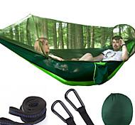 abordables -Camping hamac avec moustiquaire Double hamac Extérieur Portable Respirable Anti-Moustique Nylon Parachute avec mousquetons et sangles pour 2 personne Camping / Randonnée Pêche Plage Couleur