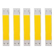 abordables -5pcs led source de perles lampe lumière blanche et chaude 9v 5w cob lampe source d'éclairage de perles 100mm * 20mm accessoires d'éclairage