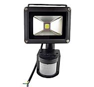 abordables -extérieur 10w étanche 800lm pir capteur de mouvement sécurité led lumière d'inondation lumières extérieures 85-265v