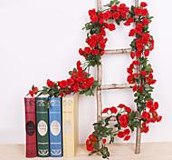 abordables -Fleurs artificielles Plastique Traditionnel Vin Guirlande et Fleur Murale Vin 1