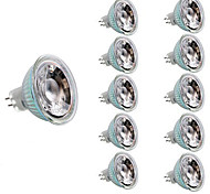 abordables -10pcs 3 W Spot LED 200 lm MR16 MR16 12 Perles LED SMD Décorative Décoration de mariage de Noël Blanc Chaud Blanc Froid 12 V / RoHs