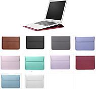"""abordables -Manche Couleur Pleine faux cuir pour MacBook 12'' / MacBook Pro 13 pouces / New MacBook Air 13"""" 2018"""