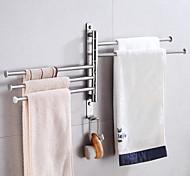 abordables -porte-serviettes de salle de bain en rotation activité porte-serviettes en acier inoxydable brossé porte-serviettes de rangement