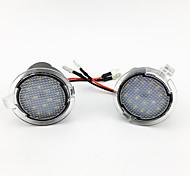 abordables -2pcs / set led sous le miroir latéral lumière voiture-styling flaque d'eau lampe rétroviseur de voiture pour ford edge mondeo