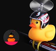 abordables -Sonnette de Vélo Klaxon de Vélo Lampe Avant de Vélo Forme de petit canard jaune Etanche Poids Léger Brillant Imperméable Extensible pour Vélo de Route Vélo tout terrain / VTT Cyclisme Gel de silice