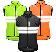 abordables -WOSAWE Homme Sans Manches Gilet Velo Cyclisme Orange Vert Noir Cyclisme Gilet / Sans Manche Veste Coupe Vent Maillot VTT Vélo tout terrain Vélo Route Coupe Vent Bandes Réfléchissantes Poche arrière