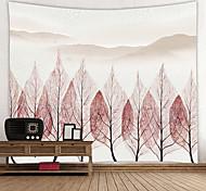 abordables -Peinture à l'encre de Chine style tapisserie murale art décor couverture rideau suspendu maison chambre salon décoration abstrait forêt arbre montagne