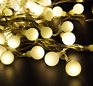 economico -LOENDE 5m Fili luminosi 50 LED Bianco caldo Colori primari Bianco Decorazione di nozze di Natale Batterie alimentate