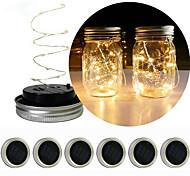 economico -luce solare esterna della stringa lanterna principale il muratore solare può coprire la luce del giardino regalo di natale luce della decorazione del fiore luci della stringa 2m 20 led rgb bianco