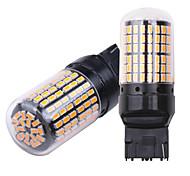 abordables -2pcs T20 (7440,7443) / BA15S (1156) / BAU15S Automatique Ampoules électriques 5 W SMD 3014 2400 lm LED Clignotants Pour Universel Toutes les Années