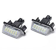 abordables -18-smd 3w led lumière de plaque d'immatriculation pour toyota camry yaris