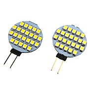 abordables -g4 led lampe ampoule 4w 3528 smd projecteur maïs ampoule voiture bateau rv lumière cool blanc chaud blanc dc12v 24leds