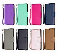 economico -telefono Custodia Per LG Integrale Custodia in pelle Porta carte di credito LG Stylo 5 A portafoglio Porta-carte di credito Resistente agli urti Tinta unica Resistente pelle sintetica