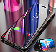 economico -telefono Custodia Per Samsung Galaxy Integrale Custodia in pelle S9 S9 Plus S8 Plus S8 Bordo S7 S7 S6 edge plus Bordo S6 S6 S10 Con supporto Placcato A specchio Tinta unica Resistente pelle sintetica