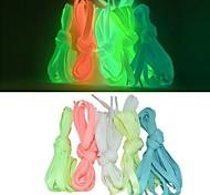 abordables -2pcs lacets lumineux sport athlétique chaussures en toile plates dentelle brillent dans la nuit noire lacets fluorescents