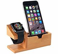 abordables -Montre Apple Tout-En-1 / Support avec Adaptateur / Nouveau design En bois Lit / Bureau