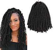 abordables -Crochet Hair Braids Torsades de printemps Box Braids Couleur naturelle Cheveux Synthétiques Rajouts de Tresses 1pack Cheveux Colorés