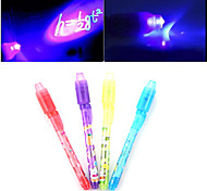 abordables -lumière lumineuse stylo à encre invisible 2 en 1 uv chèque argent enfants dessin apprentissage secret stylos magiques éducatifs
