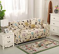 abordables -Housse de canapé florale 1 pièce housse de canapé housse de meuble housse extensible souple tissu jacquard spandex super fit pour canapé 1 ~ 4 coussin et canapé en forme de L, facile à installer (1
