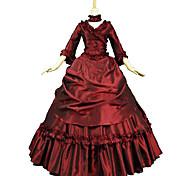 economico -Da principessa Maria Antonietta Stile Floreale Rococò Vittoriano Rinascimentale vestito da vacanza Vestiti Vestito da Serata Elegante Stile Carnevale di Venezia Per donna Pizzo Costume Rosso Vintage