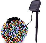 economico -LOENDE 8m Fili luminosi 60 LED LED Dip Bianco caldo Colori primari Bianco Ad energia solare