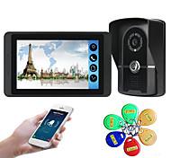 economico -618fgid11 7 pollici touch screen capacitivo videocamera cablata video campanello wifi / 3g / 4g chiamata remota memoria di sblocco visivo citofono macchina esterna carta d'identità funzione uno a uno