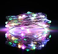 economico -ZDM® 5m Fili luminosi 50 LED SMD 0603 1pc Multicolore Impermeabile USB Feste Alimentazione USB Batterie AA alimentate