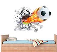 economico -Football americano / 3D Adesivi murali Adesivi 3D da parete Adesivi decorativi da parete, PVC Decorazioni per la casa Sticker murale Parete Decorazione 1pc / Rimovibile