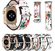 abordables -Bracelet de montre connectée pour Apple  iWatch 1 pcs Bracelet Sport Vrai Cuir Remplacement Sangle de Poignet pour Apple Watch Series SE / 6/5/4/3/2/1 38 mm 40 mm 42 mm 44 mm