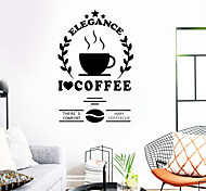 abordables -café stickers muraux mots& citations stickers muraux stickers muraux décoratifs pvc décoration de la maison sticker mural décoration murale 1 pc