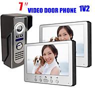 abordables -815m12 ultra-mince 7 pouces filaire vidéo sonnette hd villa interphone vidéo unité extérieure nuit vision pluie déverrouiller la fonction
