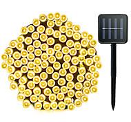 abordables -ZDM® 20m Guirlandes Lumineuses 200 LED LED Dip 1Set Support de montage 1 set Blanc Chaud Blanc Froid Plusieurs Couleurs Imperméable Solaire Soirée Alimentation Solaire / IP65