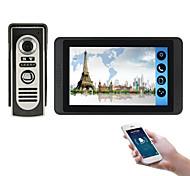 economico -618m11 7 pollici touch screen capacitivo videocamera cablata video campanello wifi / 3g / 4g chiamata a distanza di sblocco di stoccaggio citofono visivo one to one
