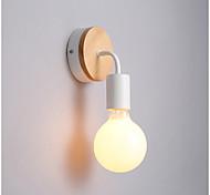 abordables -1 pc créatif loft simple courbure de fer lampe murale bois mode loisirs bar café restaurant lampe murale individuelle 220-240 v