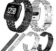 economico -Cinturino intelligente per Fitbit 1 pcs Cinturino sportivo Acciaio inossidabile Sostituzione Custodia con cinturino a strappo per Fitbit Versa Fitbit Versa Lite